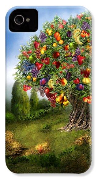 Tree Of Abundance IPhone 4 / 4s Case by Carol Cavalaris
