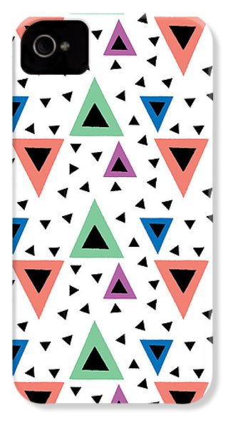 Triangular Dance Repeat Print IPhone 4 Case by Susan Claire