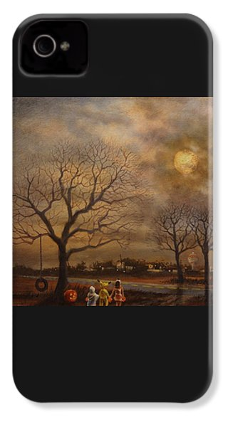 Trick-or-treat IPhone 4 / 4s Case by Tom Shropshire