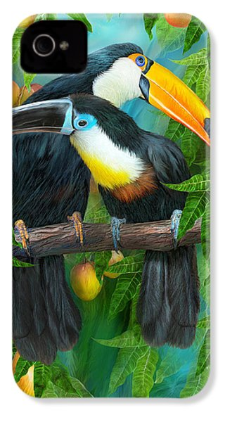 Tropic Spirits - Toucans IPhone 4 Case by Carol Cavalaris