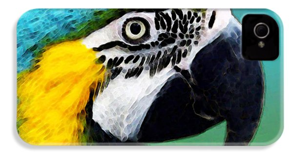 Tropical Bird - Colorful Macaw IPhone 4 Case by Sharon Cummings