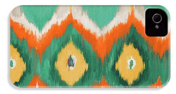 Tropical Ikat II IPhone 4 Case by Patricia Pinto