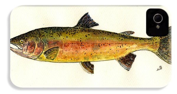 Trout Fish IPhone 4 / 4s Case by Juan  Bosco