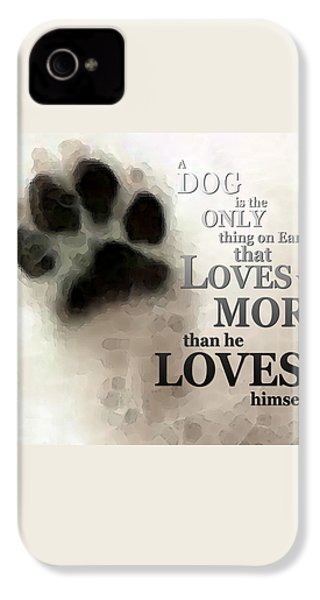 True Love - By Sharon Cummings Words By Billings IPhone 4 Case by Sharon Cummings
