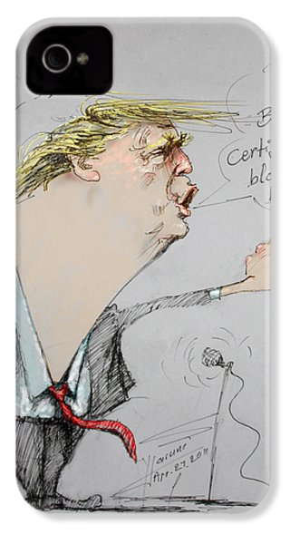 Trump In A Mission....much Ado About Nothing. IPhone 4 / 4s Case by Ylli Haruni