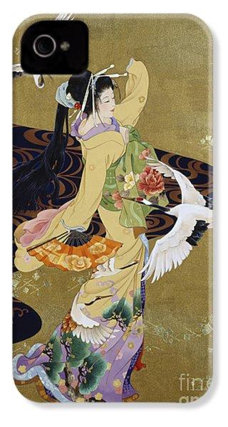 Tsuru No Mai IPhone 4 Case by Haruyo Morita