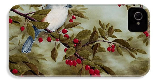 Tufted Titmouse IPhone 4 / 4s Case by Rick Bainbridge