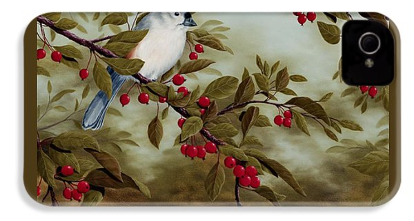 Tufted Titmouse IPhone 4 Case by Rick Bainbridge