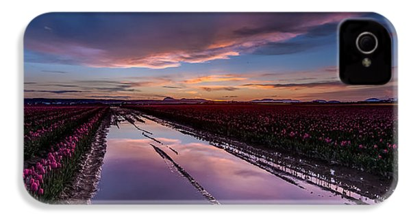 Tulips And Purple Skies IPhone 4 / 4s Case by Mike Reid