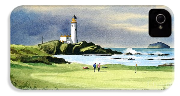 Turnberry Golf Course Scotland 10th Green IPhone 4 Case by Bill Holkham