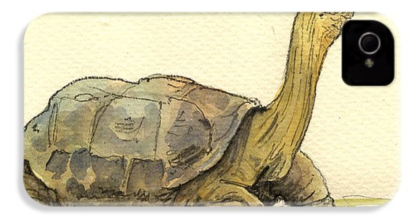 Turtle Galapagos IPhone 4 Case by Juan  Bosco
