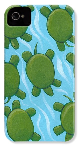 Turtle Nursery Art IPhone 4 Case by Christy Beckwith