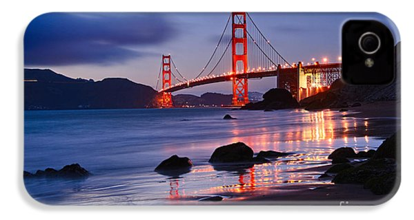 Twilight - Beautiful Sunset View Of The Golden Gate Bridge From Marshalls Beach. IPhone 4 Case by Jamie Pham