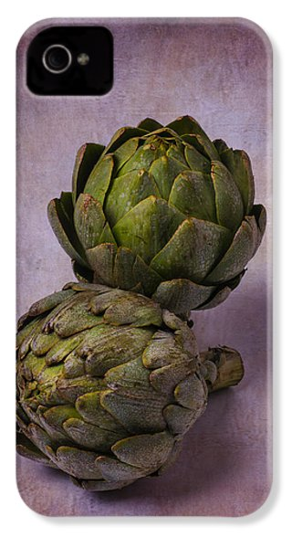 Two Artichokes IPhone 4 Case by Garry Gay