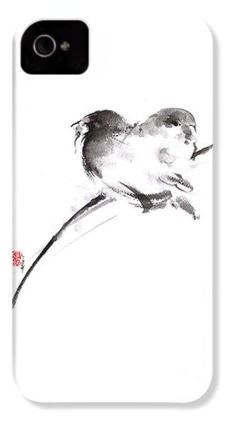 Two Birds Minimalism Artwork. IPhone 4 / 4s Case by Mariusz Szmerdt