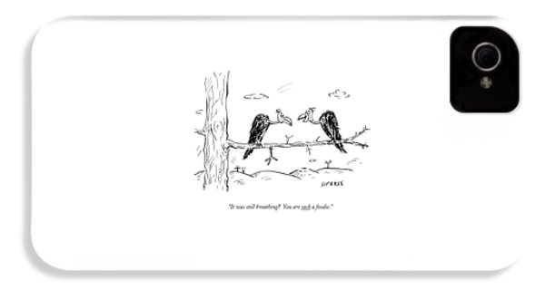 Two Buzzards Sit And Talk On A Branch IPhone 4 Case