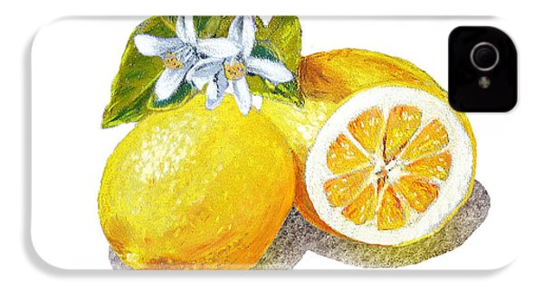 Two Happy Lemons IPhone 4 Case