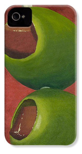 Two Olives In Search Of A Bloody Mary IPhone 4 Case by Garry McMichael