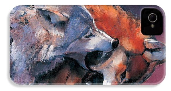 Two Wolves IPhone 4 Case