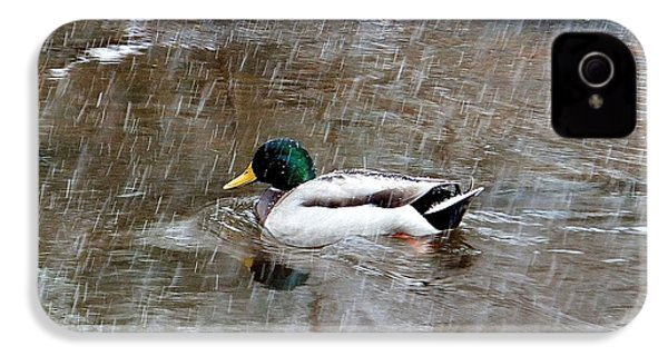 IPhone 4 Case featuring the photograph Un Froid De Canard by Marc Philippe Joly
