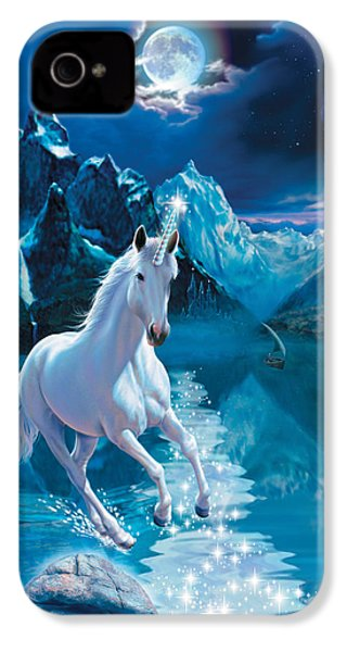 Unicorn IPhone 4 Case by Andrew Farley