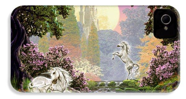 Unicorn New Born IPhone 4 Case by Garry Walton