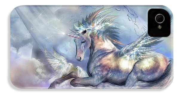 Unicorn Of Peace IPhone 4 / 4s Case by Carol Cavalaris