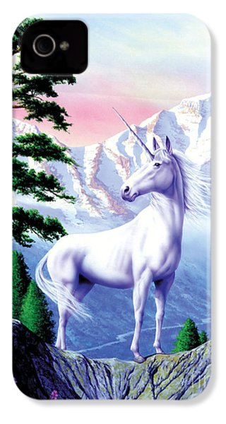 Unicorn The Land That Time Forgot IPhone 4 / 4s Case by Garry Walton