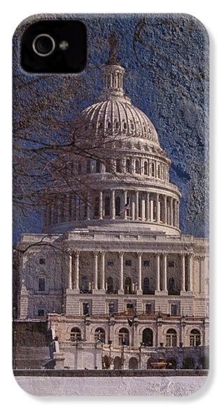 United States Capitol IPhone 4 / 4s Case by Skip Willits
