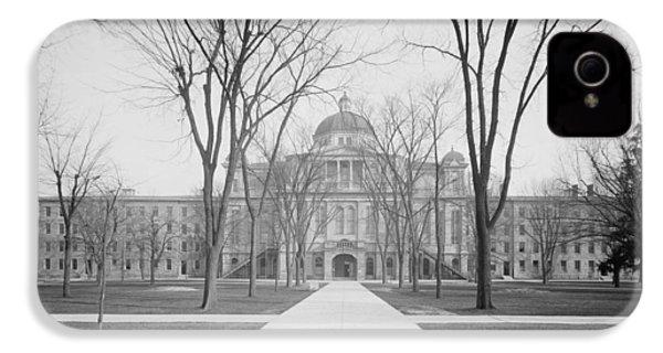 University Hall, University Of Michigan, C.1905 Bw Photo IPhone 4 Case by Detroit Publishing Co.