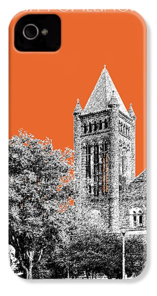 University Of Illinois 2 - Altgeld Hall - Coral IPhone 4 / 4s Case by DB Artist
