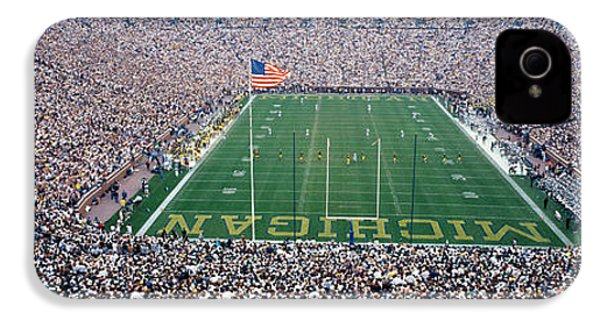 University Of Michigan Football Game IPhone 4 Case by Panoramic Images