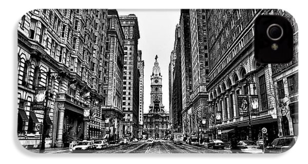 Urban Canyon - Philadelphia City Hall IPhone 4 Case by Bill Cannon
