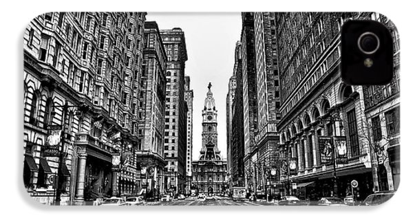 Urban Canyon - Philadelphia City Hall IPhone 4 / 4s Case by Bill Cannon