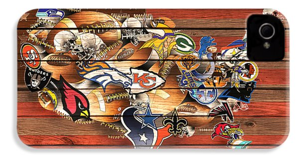 Usa Nfl Map Collage 10 IPhone 4 Case