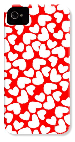 Valentines Day Card IPhone 4 / 4s Case by Louisa Knight