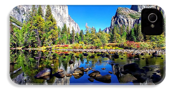 Valley View Reflection Yosemite National Park IPhone 4 / 4s Case by Scott McGuire