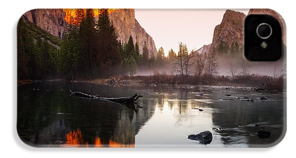 Valley View Winter Sunset Yosemite National Park IPhone 4 / 4s Case by Scott McGuire