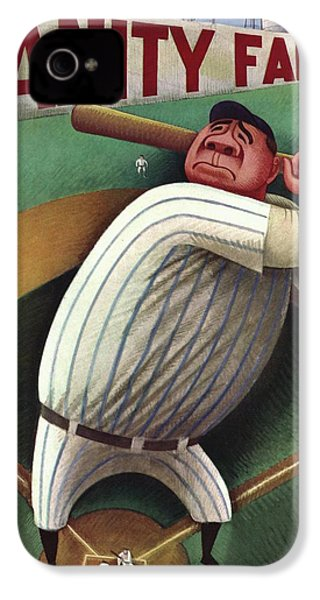 Vanity Fair Cover Featuring Babe Ruth IPhone 4 Case by Miguel Covarrubias
