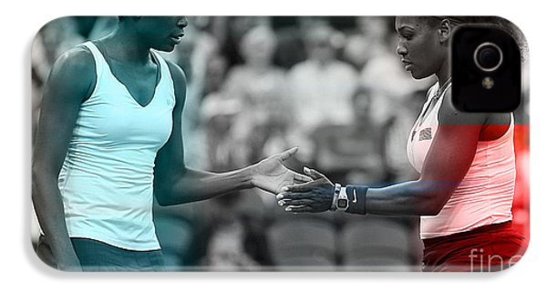 Venus Williams And Serena Williams IPhone 4 Case by Marvin Blaine