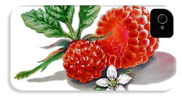 Artz Vitamins A Very Happy Raspberry IPhone 4 / 4s Case by Irina Sztukowski