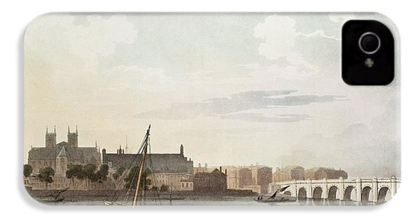 View Of Westminster And The Bridge Wc On Paper IPhone 4 Case by English School