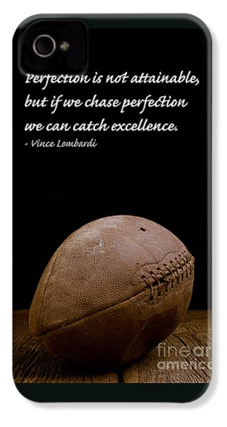 Vince Lombardi On Perfection IPhone 4 Case