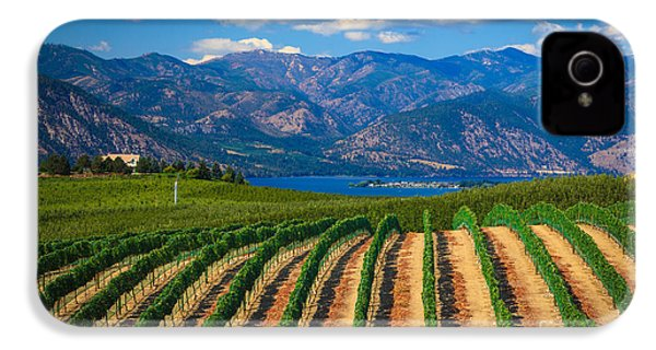Vineyard In The Mountains IPhone 4 Case by Inge Johnsson