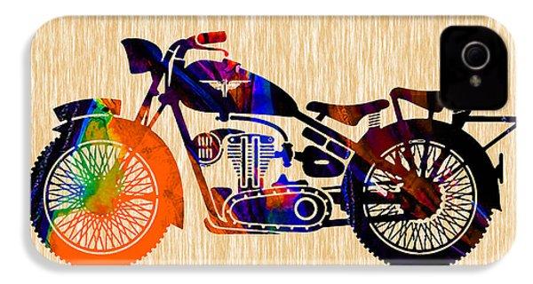 Vintage Bike IPhone 4 Case by Marvin Blaine