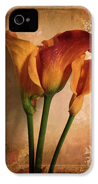 IPhone 4 Case featuring the photograph Vintage Calla Lily by Jessica Jenney