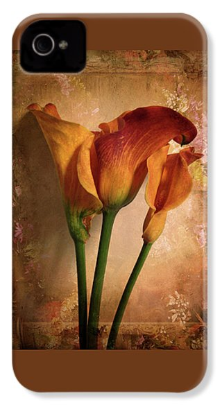 Vintage Calla Lily IPhone 4 Case by Jessica Jenney