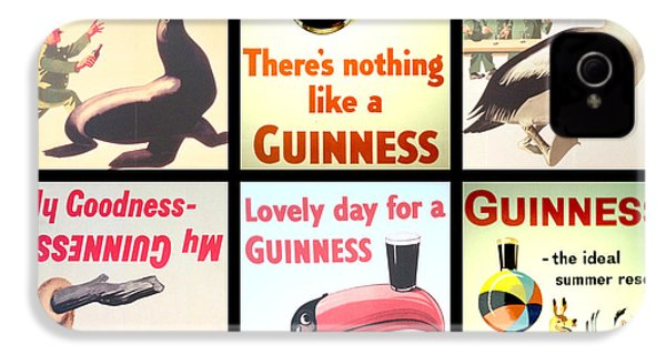 Vintage Guinness  IPhone 4 Case by Georgia Fowler