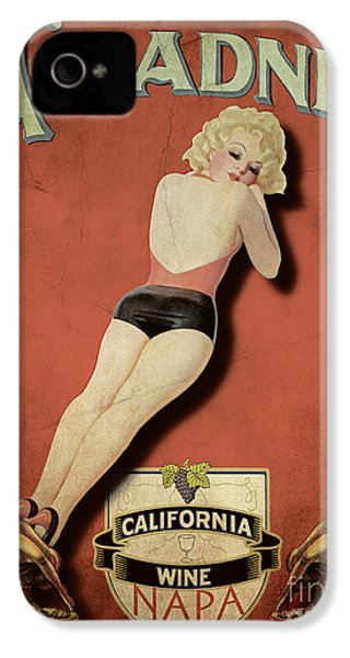 Vintage Wine Ad II IPhone 4 / 4s Case by Cinema Photography