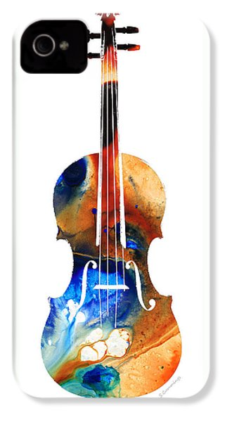 Violin Art By Sharon Cummings IPhone 4 / 4s Case by Sharon Cummings